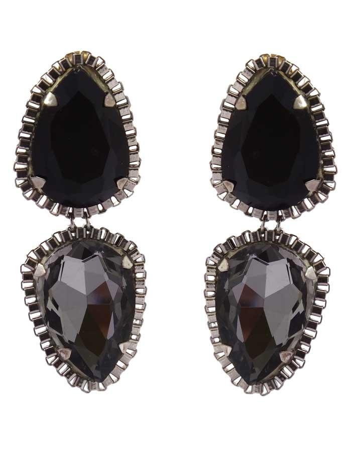 Crystal Blackberry earrings (RJE107)-0