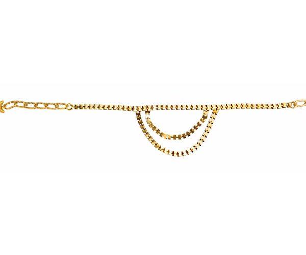 Delicate Golden Anklet (RJMAL16)-0