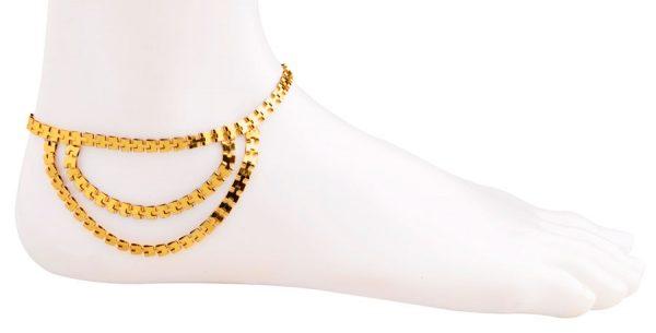 Delicate Golden Anklet (RJMAL16)-19