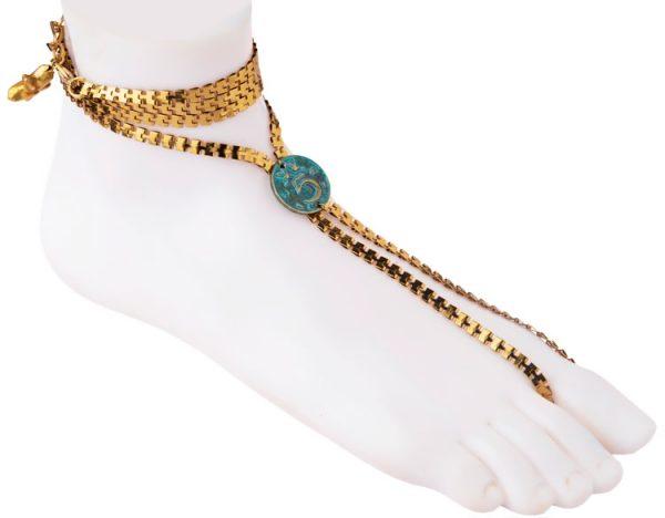 Turquoise Coin Anklet (RJMAL17)-22