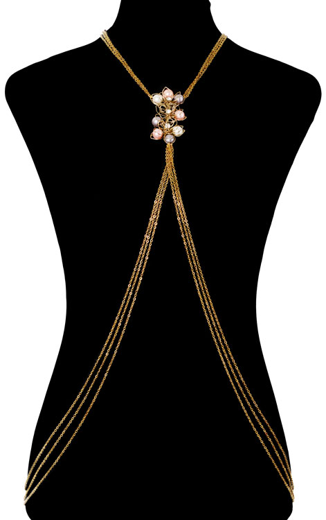 Pearly Floral Bodychain (RJMBJ70)-0