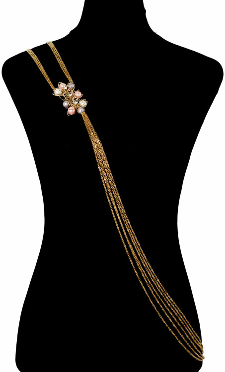 Pearly Floral Bodychain (RJMBJ70)-146