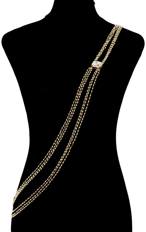 Pearls Beaded Bodychain (RJMBJ71)-149