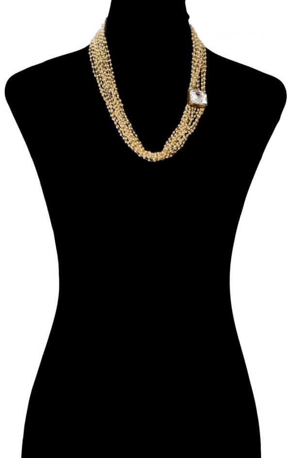 Pearls Beaded Bodychain (RJMBJ71)-154
