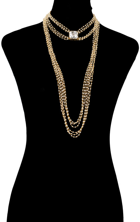 Pearls Beaded Bodychain (RJMBJ71)-150