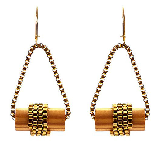 Wooden Swing Earrings (RJE209)-0