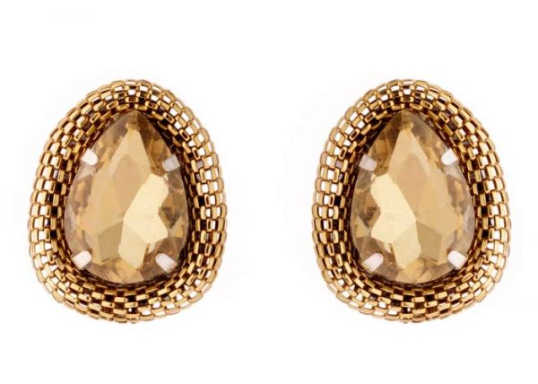 ''Golden Mesh Earrings'' (RJE402)-1622