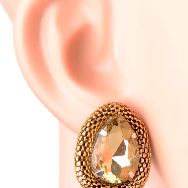 ''Golden Mesh Earrings'' (RJE402)-0