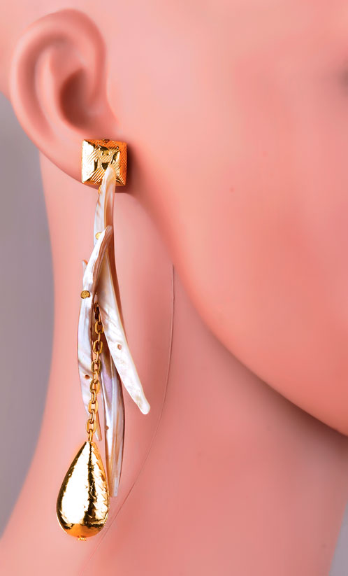 MOP Stick Earrings (RJE420)-0