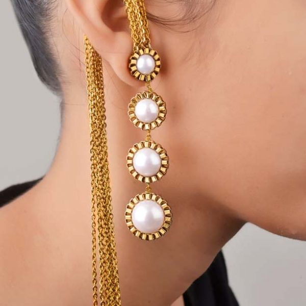 Climbing pearls Earrings (RJE426)-0