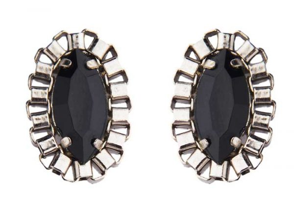 Black Crystal Studs (RJE481) -1369