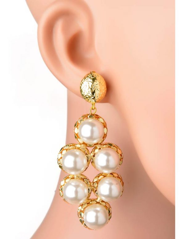 Pearly Bubble Earring (RJE526)-0