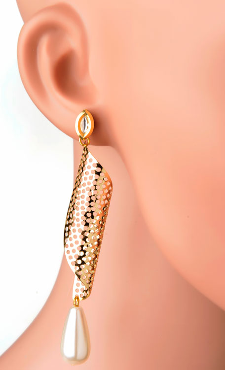 Twisted Jaali Earring(RJE529)-0