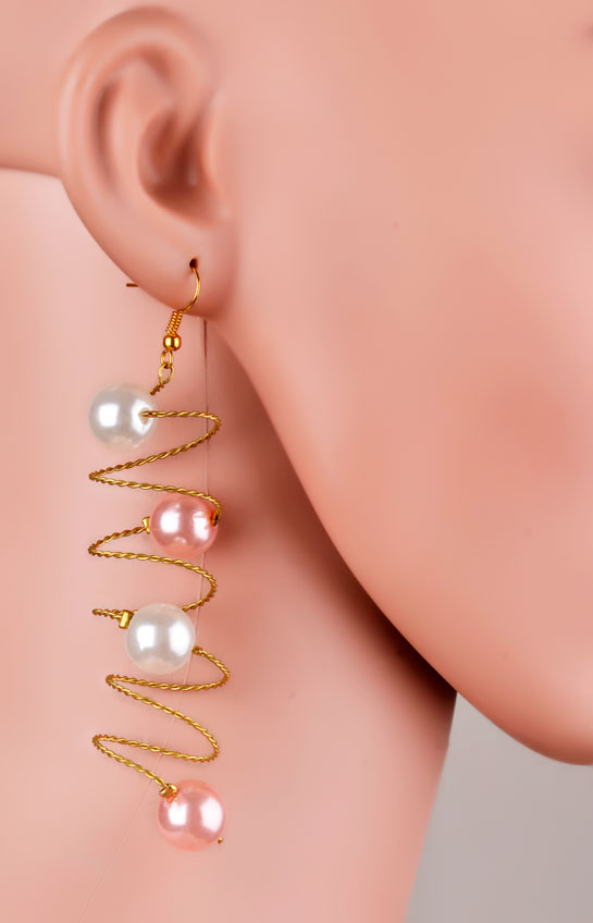 Colourful Curly Earrings (RJE547)-0