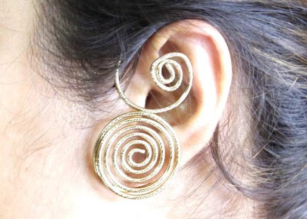 Antiquegold Spiral Earcuff (RJEC84)-0