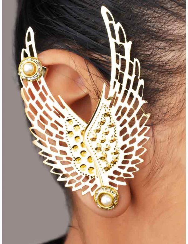 Double Wings Earcuff (RJEC9)-0