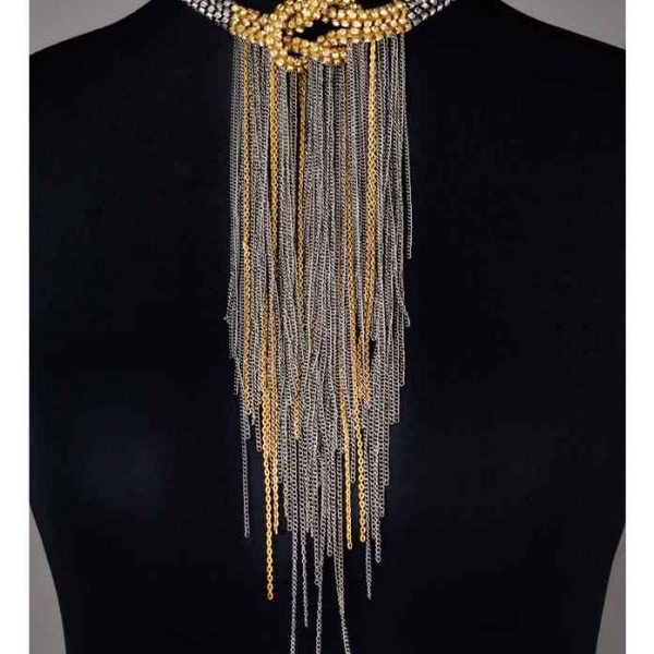 Glamorous Knotted Necklace - (RJN762)-0