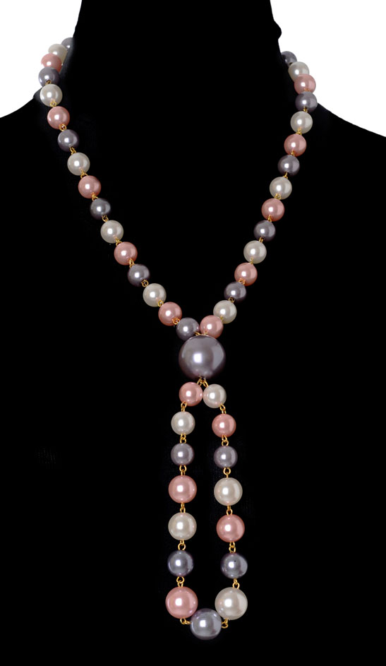 ''Multicolour Pearls Necklace'' (RJN844)-0