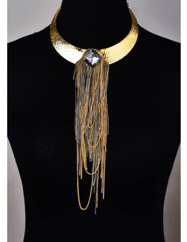 Gold Chained Choker(RJN882)-0