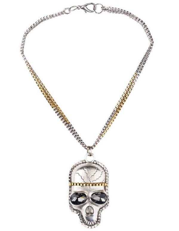 Skull Inspired Necklace (RJMN14)-2298