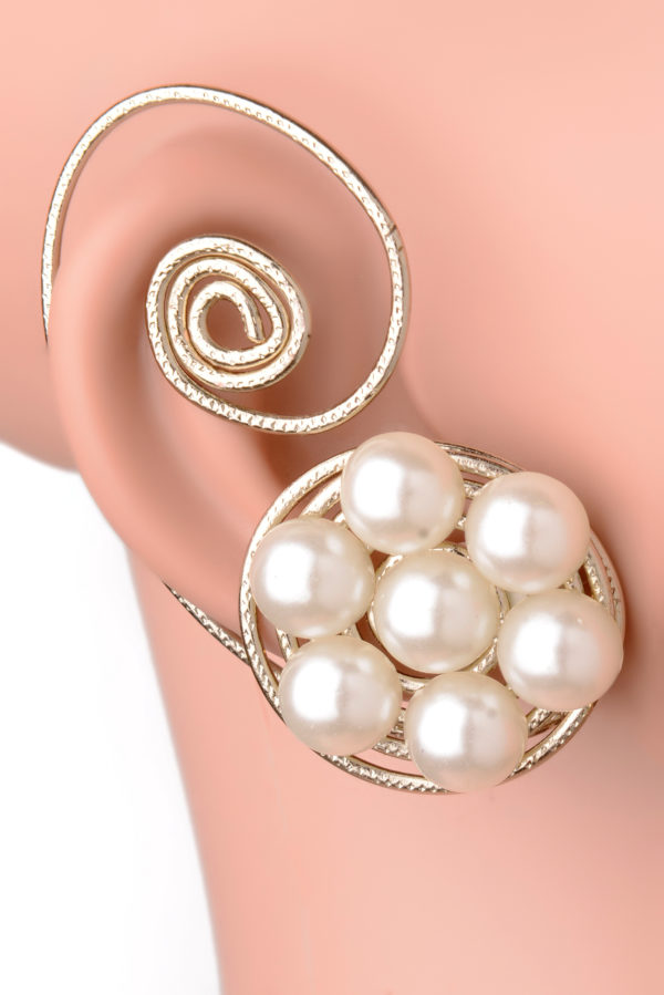 Pearly Spiral Earcuff (RJEC262)-0